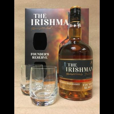 Coffret The Irishman Founder's Reserve 70 cl + 2 verres