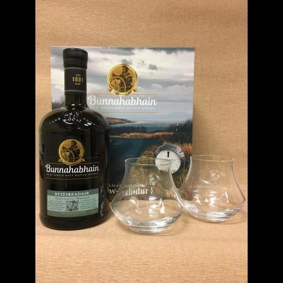 Bunnahabhain coffret Stiùireadair 70 cl + 2 verres