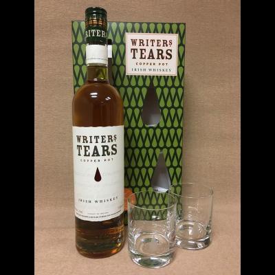 Coffret Writer's Tears Copper Pot 70 cl + 2 verres