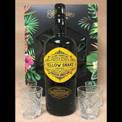 Coffret Signature Yellow Snake 70 cl + 4 verres